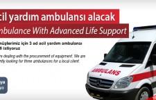 Acil yardım ambulansı alacak