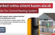 Merkezi ısıtma sistemi kazanı alacak
