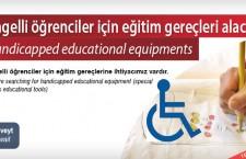 Engelli öğrenciler için eğitim gereçleri alacak