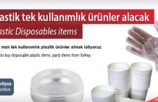 Plastik tek kullanımlık ürünler alacak