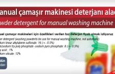 Manual çamaşır makinesi deterjanı alacak