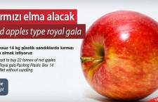 Kırmızı elma alacak
