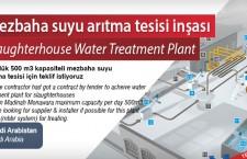 Mezbaha suyu arıtma tesisi inşası
