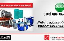 Plastik su deposu imalat makineleri almak istiyor