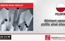 Alüminyum yapısal profiller almak istiyor