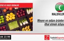 Meyve ve sebze ürünleri ithal etmek istiyor