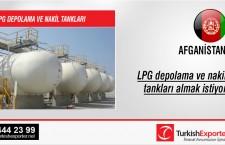 LPG depolama ve nakil tankları almak istiyor