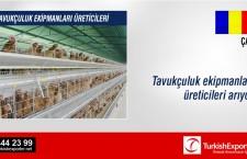 Tavukçuluk ekipmanları üreticileri arıyor