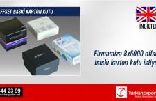 Firmamiza 8×5000 offset baski karton kutu lazim, ilgilenen firmalara duyurulur