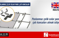 Paslanmaz çelik solar panel çatı kancaları almak istiyor