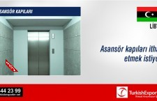 Asansör kapıları ithal etmek istiyor