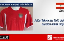 Futbol takımı her türlü giyim ürünleri almak istiyor