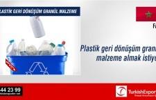 Plastik geri dönüşüm granül malzeme almak istiyor