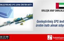 Genleştirilmiş EPS levha üretim hattı almak istiyor