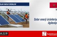 Solar enerji ürünleriyle ilgileniyor