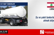 Su ve yakıt tankerleri almak istiyor