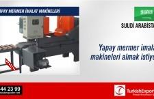 Yapay mermer imalat makineleri almak istiyor