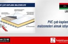 PVC çatı kaplama malzemeleri almak istiyor