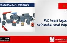 PVC tesisat bağlantı malzemeleri almak istiyor
