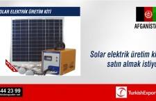 Solar elektrik üretim kiti satın almak istiyor