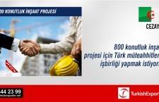 800 konutluk inşaat projesi