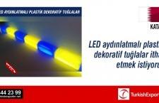 LED aydınlatmalı plastik dekoratif tuğlalar