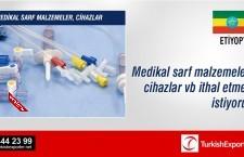 Medikal sarf malzemeler, cihazlar