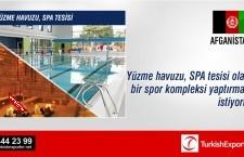 Yüzme havuzu, SPA tesisi olan bir spor kompleksi projesi