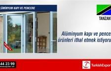 Alüminyum kapı ve pencere