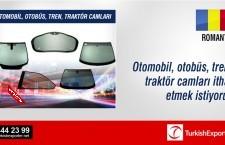 Otomobil, otobüs, tren, traktör camları