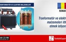 Tranformatör ve elektrik malzemeleri
