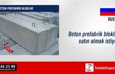 Beton prefabrik bloklar satın almak istiyor