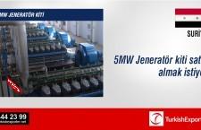 5MW Jeneratör kiti satın almak istiyor
