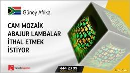 Cam mozaik abajur lambalar ithal etmek istiyor