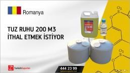 Tuz ruhu 200 m3 ithal etmek istiyor