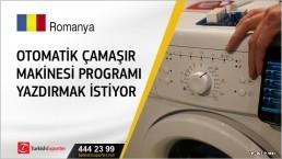 Otomatik çamaşır makinesi programı yazdırmak istiyor