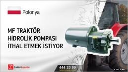 MF Traktör hidrolik pompası ithal etmek istiyor