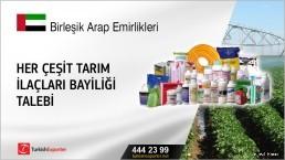 Her çeşit tarım ilaçları bayiliği talebi