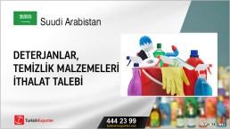 Deterjanlar, temizlik malzemeleri ithalat talebi