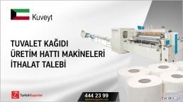 Tuvalet kağıdı üretim hattı makineleri ithalat talebi