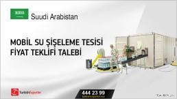 Mobil su şişeleme tesisi fiyat teklifi talebi