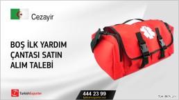 Boş ilk yardım çantası satın alım talebi