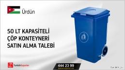 50 lt kapasiteli çöp konteyneri satın alma talebi