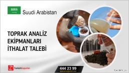 Toprak analiz ekipmanları ithalat talebi