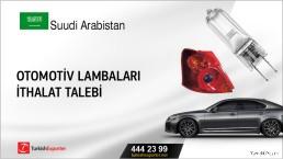 Suudi Arabistan, Otomotiv lambaları ithalat talebi
