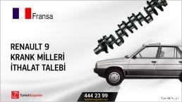 Fransa, Renault 9 krank milleri ithalat talebi