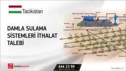 Tacikistan, Damla sulama sistemleri ithalat talebi