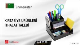 Türkmenistan, Kırtasiye ürünleri ithalat talebi