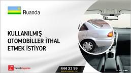 Ruanda Kullanılmış otomobiller ithal etmek istiyor