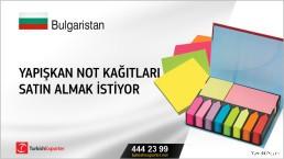 Bulgaristan, Yapışkan not kağıtları satın almak istiyor